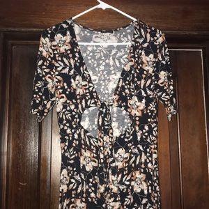 Express women's long floral dress. Size small.